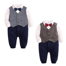 kids baby boys clothes wedding birthday party Tuxedo boys formal suit cotton bod