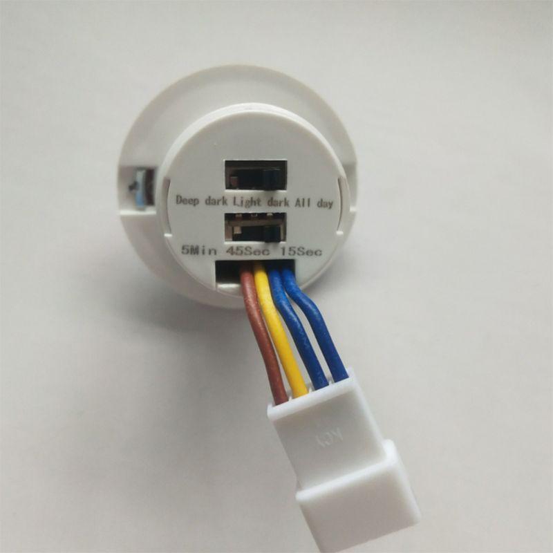 Détecteur de mouvement infrarouge LED 40mm, interrupteur avec retardateur réglable