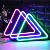 Triangles LED Neon Sign Light Hanging Party Store Visual Artwork Lamp Neon Bulbs Wall Home Bar Party Decoration Lamp 110 240V