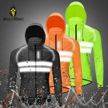 WOSAWE Reflective Windproof Cycling Jacket Men Waterproof MTB Bicycle High Visibility Rain Resistant Sports Coat Bike Jackets