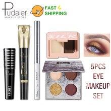 Eye-Makeup-Set Eyeshadow-Palette Eyeliner Eyebrow-Gel Mascara Pudaier Waterproof Black/white