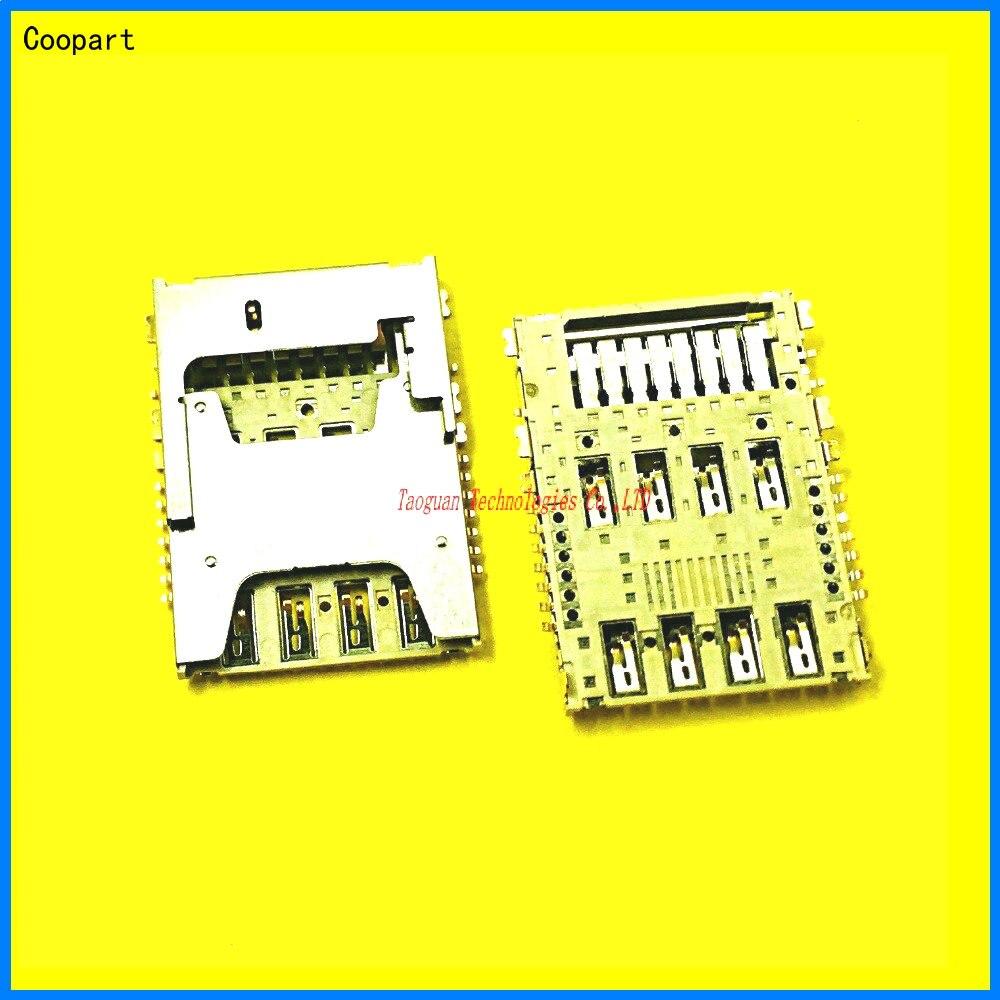 2pcs/lot Coopart New SIM Card SD TF Card Socket Holder Tray Slot For LG G3 D855 F400 LGG3 F350LKS D858 D857 G4 H818 F260