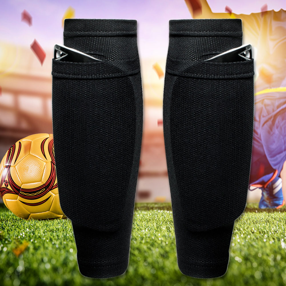 1 Pair Outdoor Shin Guard Abrasion Resistant Football Games Sports Safety Soccer Leggings Support Band Protective Socks Sleeves