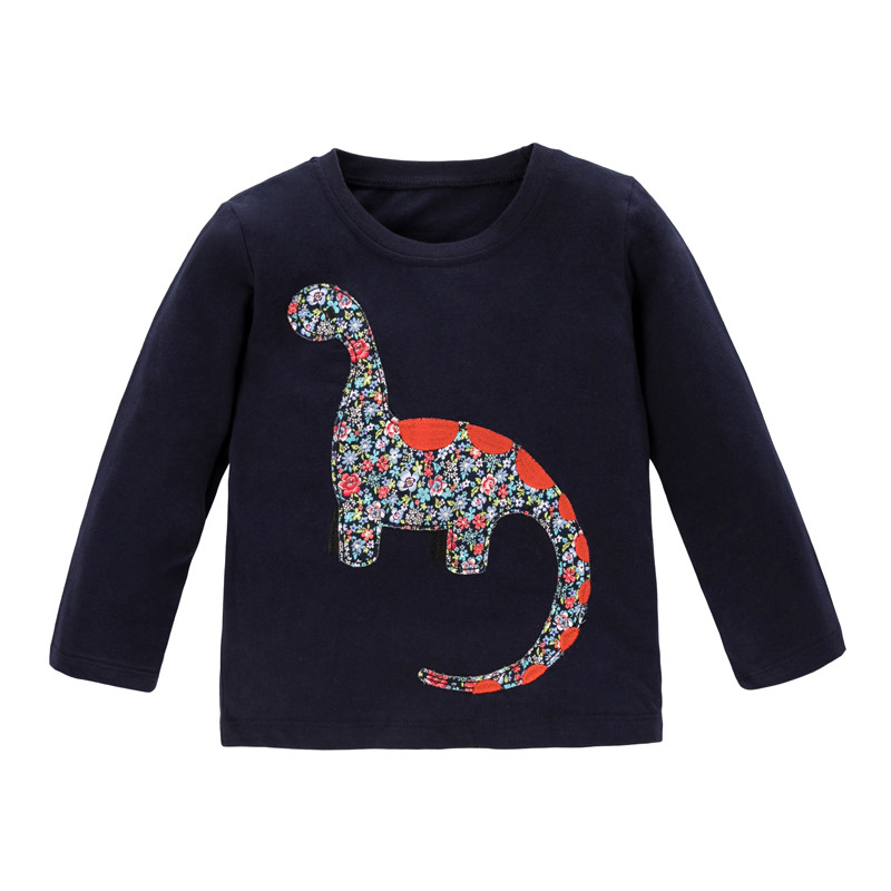 Had923753e29943e98774b80036dc412bI Jumping meters Baby Dinosaurs T shirts Cotton Girls Animals Clothing for Autumn Spring Children's Tees s