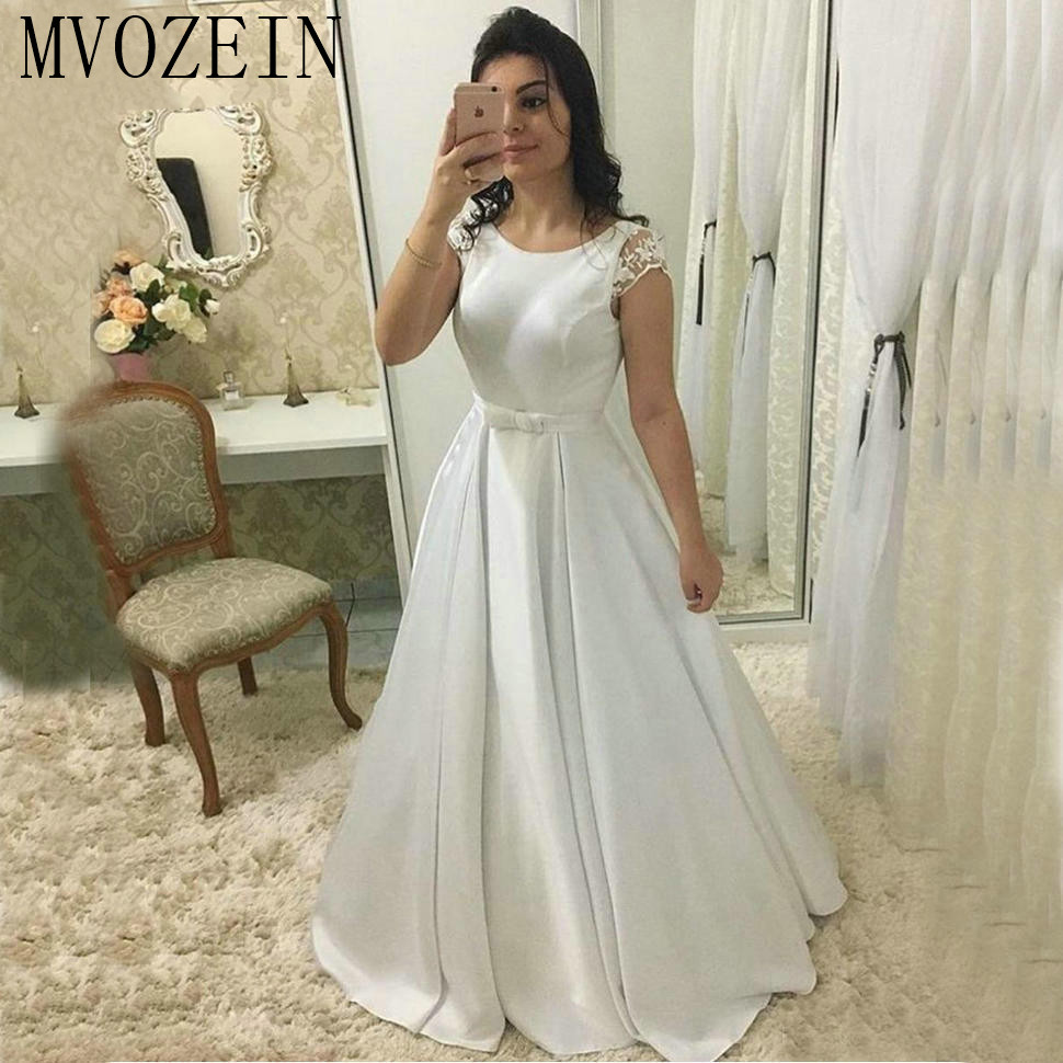 Sexy Satin Ivory Evening Dresses Long Customized Slim Fit Women White A Line Formal Party Dress Pageant Backless Evening Gowns