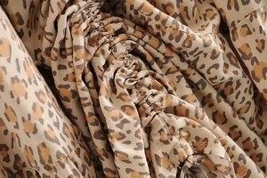 Image 4 - Vintage Chic Fashion Hippie Vrouwen Strand Bohemian Luipaard Print Vouw Ontwerp Rok Hoge Elastische A lijn Boho Maxi Rok Femme