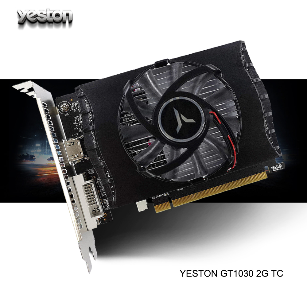 gtx 1030 купить - Yeston GeForce GT 1030 GPU 2GB GDDR5 64 bit Gaming Desktop computer PC Video Graphics Cards support PCI-E X4 3.0