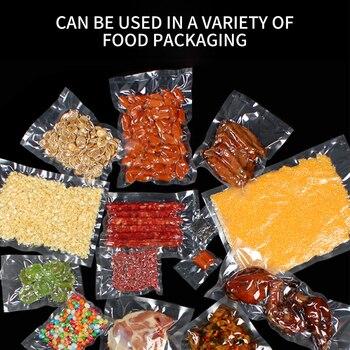 FUNHO สูญญากาศซีลกระเป๋าอาหาร 5 ม้วนถุงสูญญากาศ 12/15/20/25/ 28/30 ซม.* 5 M สูญญากาศซีลสูญญากาศกระเป๋า