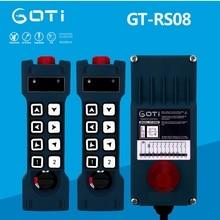 GT-RS08 Industrial Radio Wireless Crane Hoist Remote Control 8 Channel Switch Replace TELECRANE UTING F24-8S F23-A++ TELEcontrol