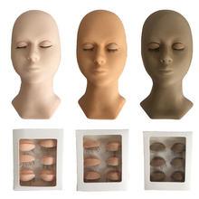 Манекен для накладных ресниц набор наращивания манекен практики