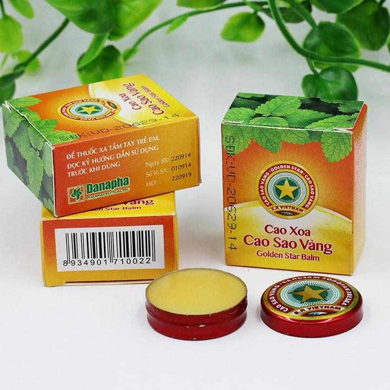 Vietnam Golden Star Balm Ointment For Headache Dizziness Insect Stings Heat Muscle Pain Relieving Relax Portable Essential Balm