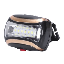 Portable Mini 6 Led head light lamp 3 Modes Beam Light 3xAaa Headlight Lantern Torch For Outdoor Lighting With H