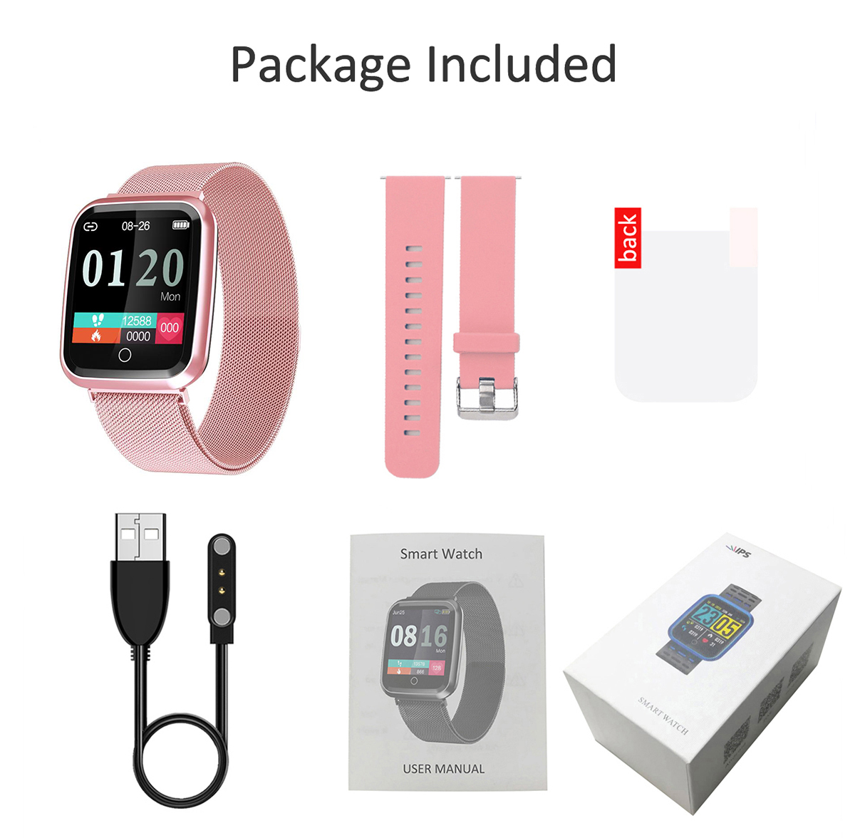 DAROBO N99 Sport and Heart rate monitor Smart watch with Waterproof Blood pressure monitor for men women available in Android IOS 18