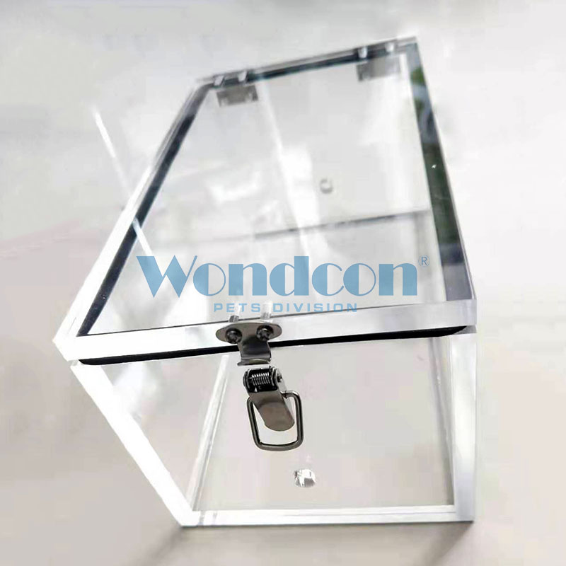 Wondcon veterinary Animal Anesthesia Induction Chamber organic glass Cat dog pets Anesthesia Induction Chamber