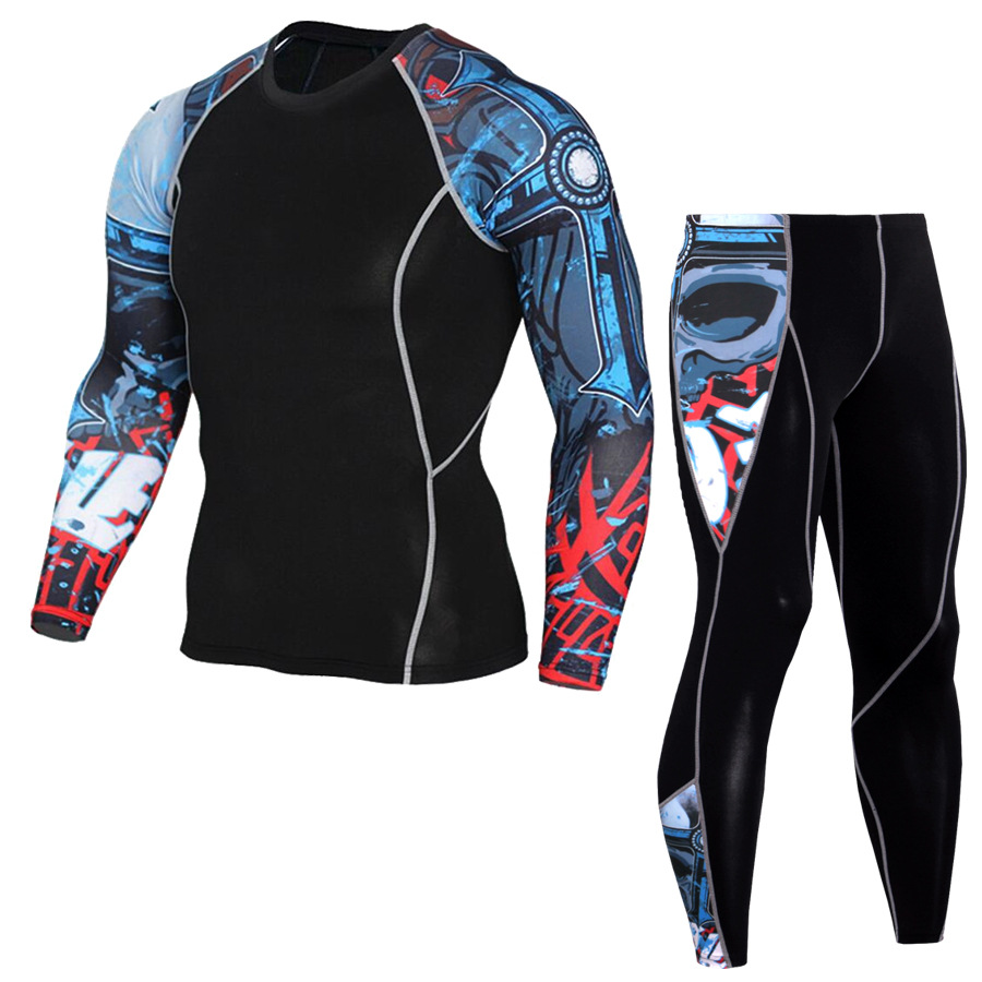 Long Johns Winter Thermal Underwear Sets Men Brand Quick Dry  Men's Thermo Underwear Male Spring training cycling Sportswear