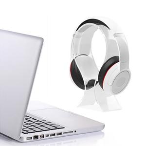 Image 5 - New Fashion Simple Gaming Cradle Acrylic Headset Stand Multifunctional Headphone Holder Bracket Display For Headphone