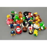 18 modelos de Mario-juguetes de dibujos animados de acción | PVC figuras de acción juguetes princesa Luigi Lucy melocotón chico tímido odisea King Kong modelo