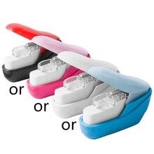 Color Stapleless Stapler Book Paper Stapling Stapler Mini Portable No Staples N7MA