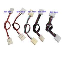 100pcs 2PIN 3pin 4Pin 5PINเชื่อมต่อคู่สายเชื่อมต่อสำหรับ 3528 5050 WS2811 WS2812B 5050 RGB RGBW LED Strip LIGHT
