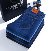 Playboy vip MEN'S Jeans Spring And Summer New Style 2019 Men'S Wear Loose Straight Business Elasticity MEN'S Trousers