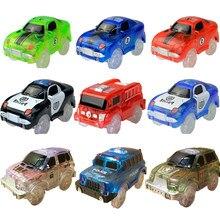 A eletrônica mágica de 4.4-5.4cm conduziu brinquedos do carro com luzes piscando brinquedos educacionais para o jogo do presente do natal do aniversário das crianças com faixas