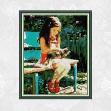 Картины с девушкой и кошкой joy sunday напечатанные на холсте