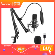 MAONO AU A04 USB Microphone Kit 192KHZ/24BIT Professional Podcast Condenser Mic for PC Karaoke Youtube Studio Recording Mikrofon