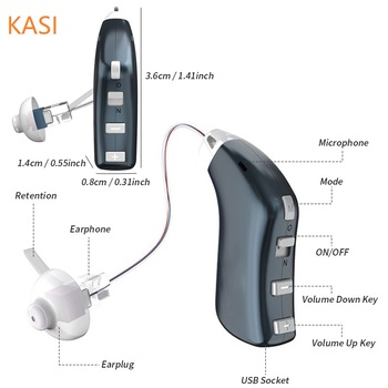 20 kanałów akumulator aparaty słuchowe cyfrowe aparaty słuchowe regulowany dźwięk wzmacniacz dźwięku przenośny głuchy Elderlyl aparat słuchowy tanie i dobre opinie SEKADAO