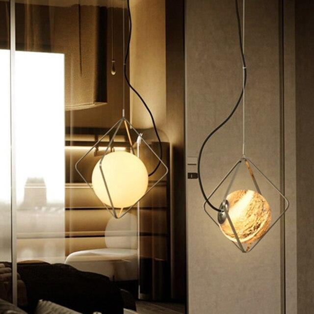 Lampe à suspension nordique personnalité créative planète suspension lampe café repas barre suspension lampe salon chambre étude décor luminaires