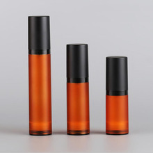 50ml Frosted Brown Airless Bottle Black Pump Lid sprayer toner serum/lotion/emulsion liquid foundation/recovery complex cosmetic