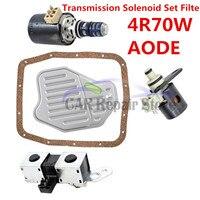 4r70w transmissão solenóide pacote shift tcc lock-up epc kit de ajuda conjunto 1998-2004 remanufaturados acessórios do carro