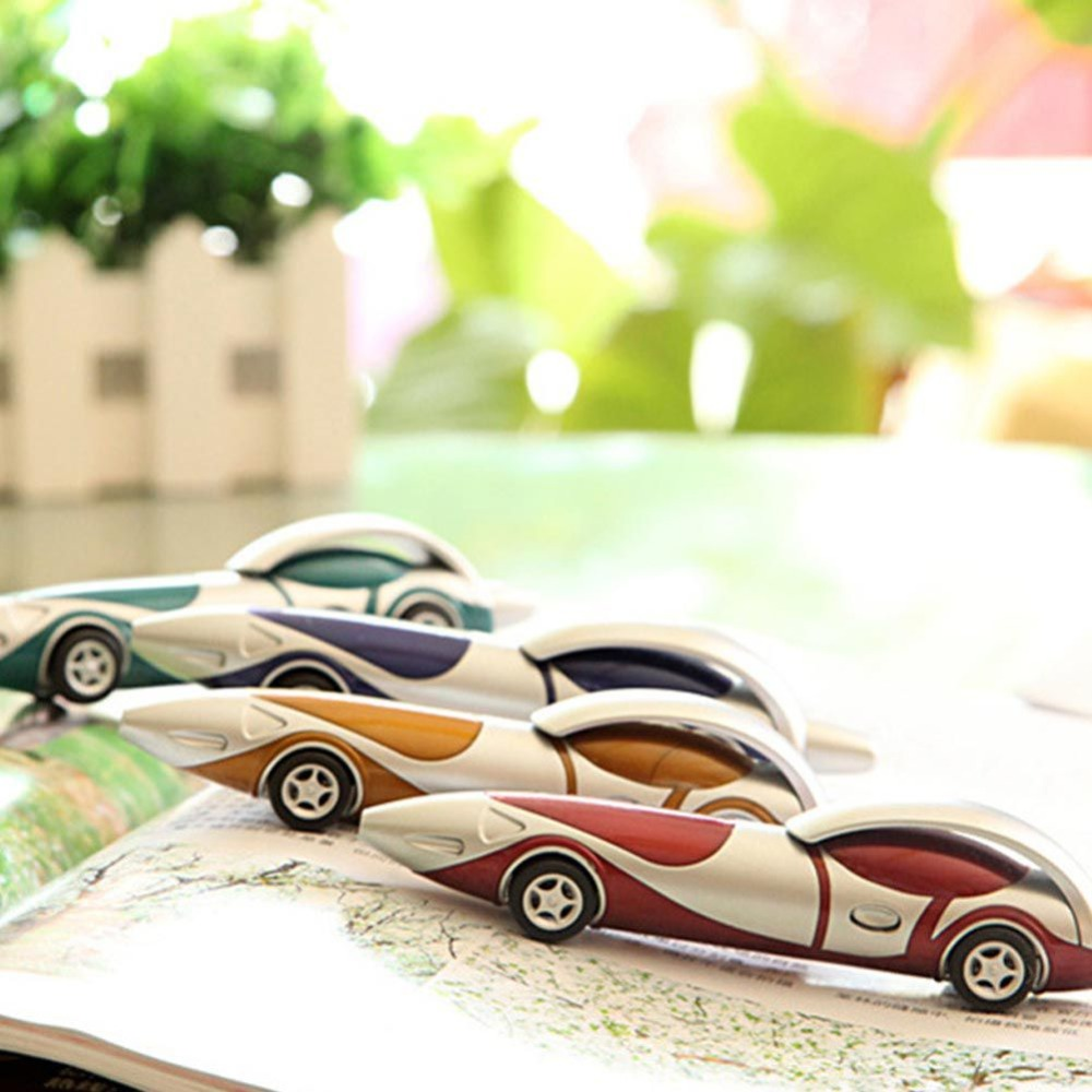 Funny Novelty Racing Car Ballpoint Pen Orange Primary Prizes Children School Supplies Office School Supplies Ballpoint Pens