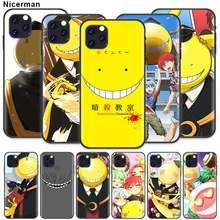 Koro sensei caso para apple iphone 12 mini 11 pro max x xr xs 7 8 plus 6s se 2020 silicone cobrir telefone capa coque