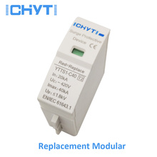 цена на ICHTYI Top quality SPD replace modular 30-60KA AC 275V 385V 420V surge protector lightning protection surge arrester
