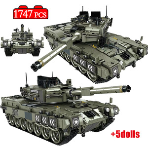 1747 Pcs Leopard 2 Main Battle Tank Model Building Blocks Military WW2 Army Soldier Bicks Toys For Kid Boys(China)