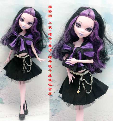 Monstering High Doll Clothes Handmade Outfit Soft Personality Doll Dress Jacket Skirt Doll Clothing Set Quality Doll Clothes 12