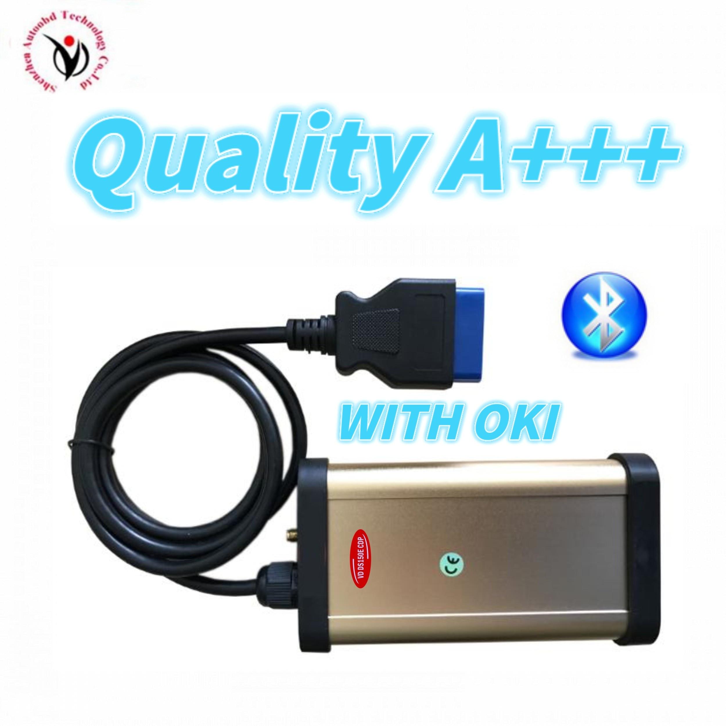 2020 neue Gold form mit OKI CHIP bluetooth vd ds150e cdp für vdijk autocoms pro obd2 obd autos & lkw diagnose werkzeug scanner