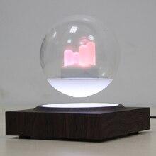 Магнитный, парящий в воздухе, светящийся 3 дюймов стеклянный шар поворачивается с семью Цвет ночной Светильник праздник Рождественский подарок домашний стол