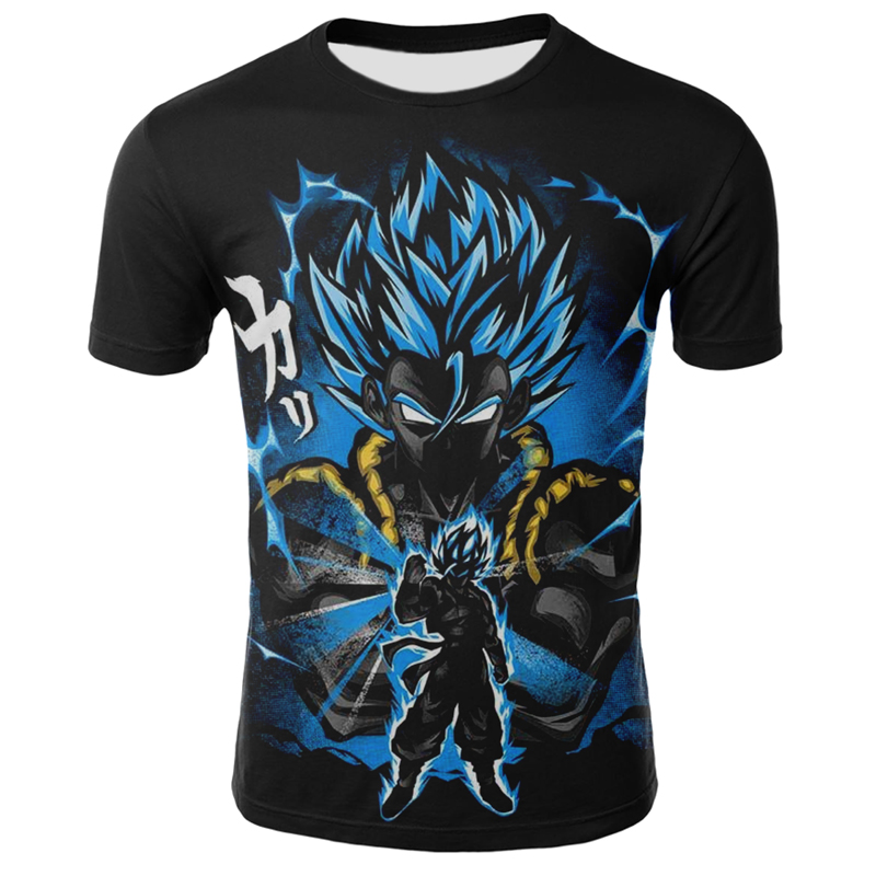 2020 Summer New Dragon Ball Z Super Son Goku Super Saiyan Men's T-shirt 3D Printing Summer O Collar Daily Casual Funny T-shirt