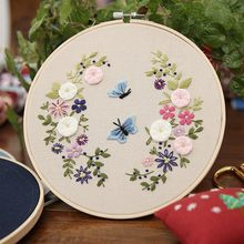 Diy bordado para iniciante needlework prática kits criativo moderno flor pintura da parede artesanato arte conjuntos casa handmake