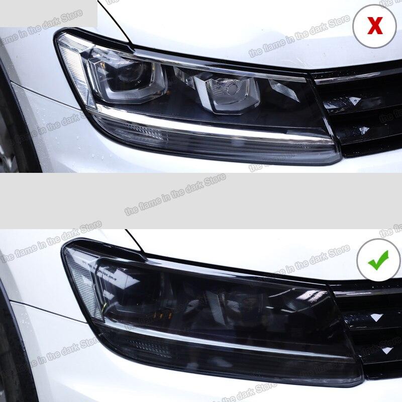 Прозрачная Черная защитная пленка Lsrtw2017 из ТПУ для автомобильных фар Volkswagen tiguan 2017 2018 2019 2020 наклейка против царапин