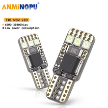 ANMINGPU 2x Car Led Signal Lamp W5W Led Canbus 3030SMD White 168 194 T10 Led Bulbs For Cars Clearance Light License Plate Lights w5w 10 led 7020 smd car t10 led 194 168 wedge replacement reverse instrument panel lamp white blue bulbs for clearance lights