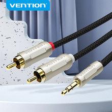 Cable de audio Vention 3,5 a 2RCA, cable rca de 3,5mm, conector macho a macho, cable auxiliar 2 rca para amplificador de teléfono, Edifer DVD o cine en casa