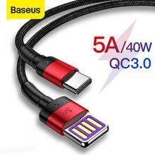 Baseus 40W Supecharge USB Typ C Kabel für Huawei P30 Mate 20 30 Pro 5A Schnelle Lade Schnell Ladung 3,0 typ USB-C Daten Kabel