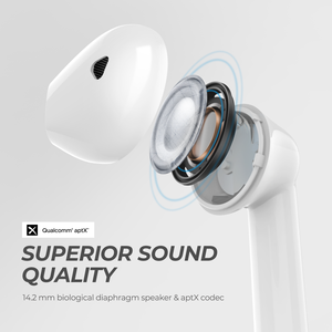 Image 2 - SoundPEATS TrueAir QCC3020 Bluetooth 5.0 TWS אוזניות HiFi סטריאו APTX Wireless אוזניות CVC רעש ביטול 30 שעות זמן לשחק