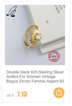 Женское Открытое кольцо в Корейском стиле серебряное Двухслойное