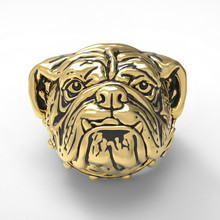 Domineering Men Silver Stainless Steel Ring Titanium Steel Ring Pet Dog Ring Dog Head Ring Hip Hop Punk Party Ring Jewelry Gift