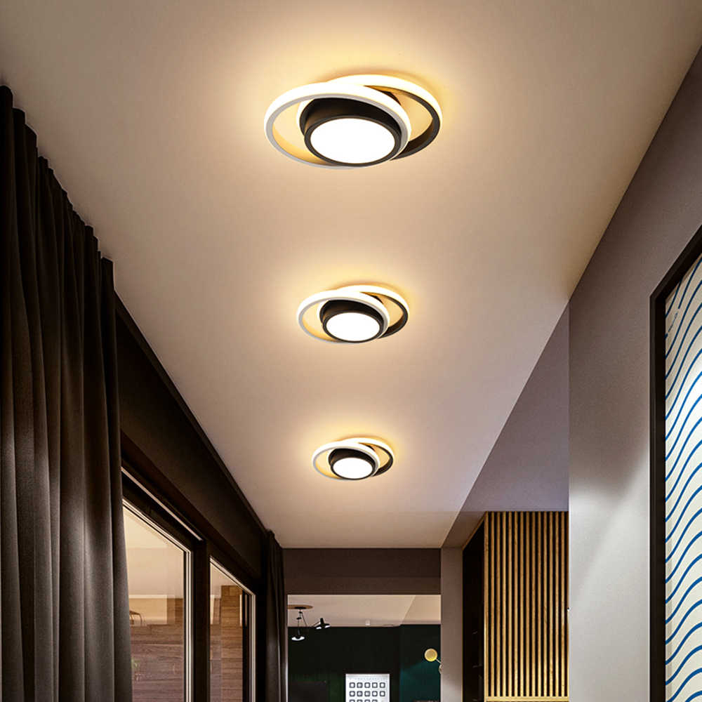 Anillo de LED Moderno Lampara de Techo Apagado Blanco Gris Círculo Lámparas de Techo con Pantallas de Acrílico Redondo Cuadrado luz de techo de Metal de Montaje Empotrado para Sala de Estar Dormitorio Baño