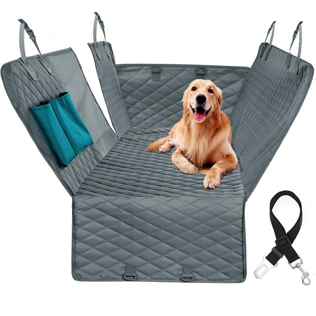 Prodigen Dog Car Seat Cover Waterproof Pet Transport Dog Carrier Car Backseat Protector Mat Car Hammock For Small Large Dogs 5