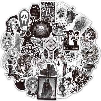 50 Pcs Skeleton Skull Devil Punk Gothic Style Graffiti Stickers Waterproof PVC Sticker DIY Car Laptop Skateboard Luggage Guitar 46 pcs set the office funny stickers waterproof stickers for suitcase luggage laptop diy sticker pvc skateboard sticker g0172